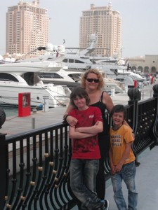 Julie Pickering and her sons