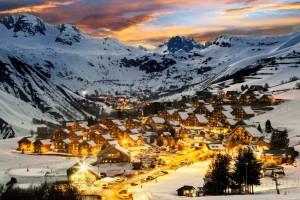 Ski resort in French Alps,Saint jean d'Arves